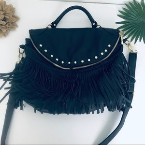 Steve madden black leather purse with friends